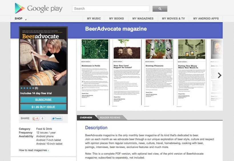 BeerAdvocate Magazine, Now Available on Google Play | BeerAdvocate