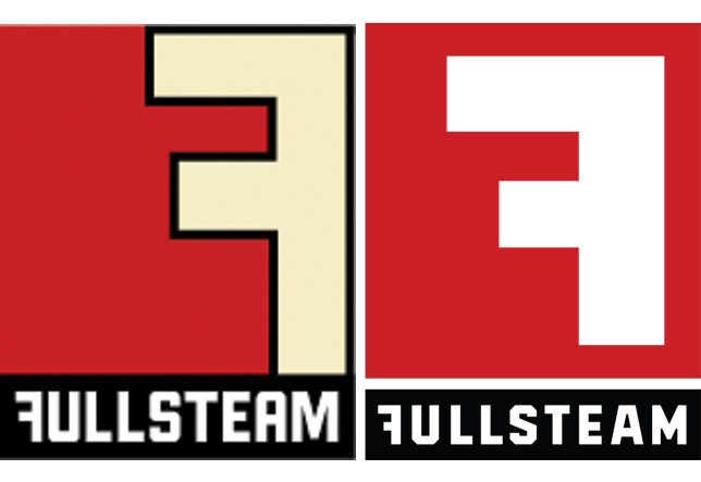 The first logo for Fullsteam was designed in-house in early 2009, and tweaked later in the year. In 2010, it was revamped again to become this current incarnation (pictured right).