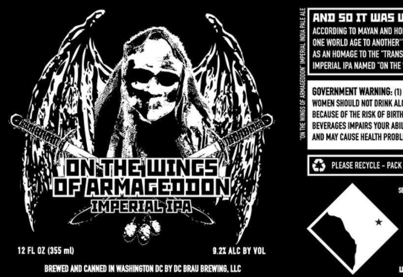 On The Wings Of Armageddon By Dc Brau Beeradvocate
