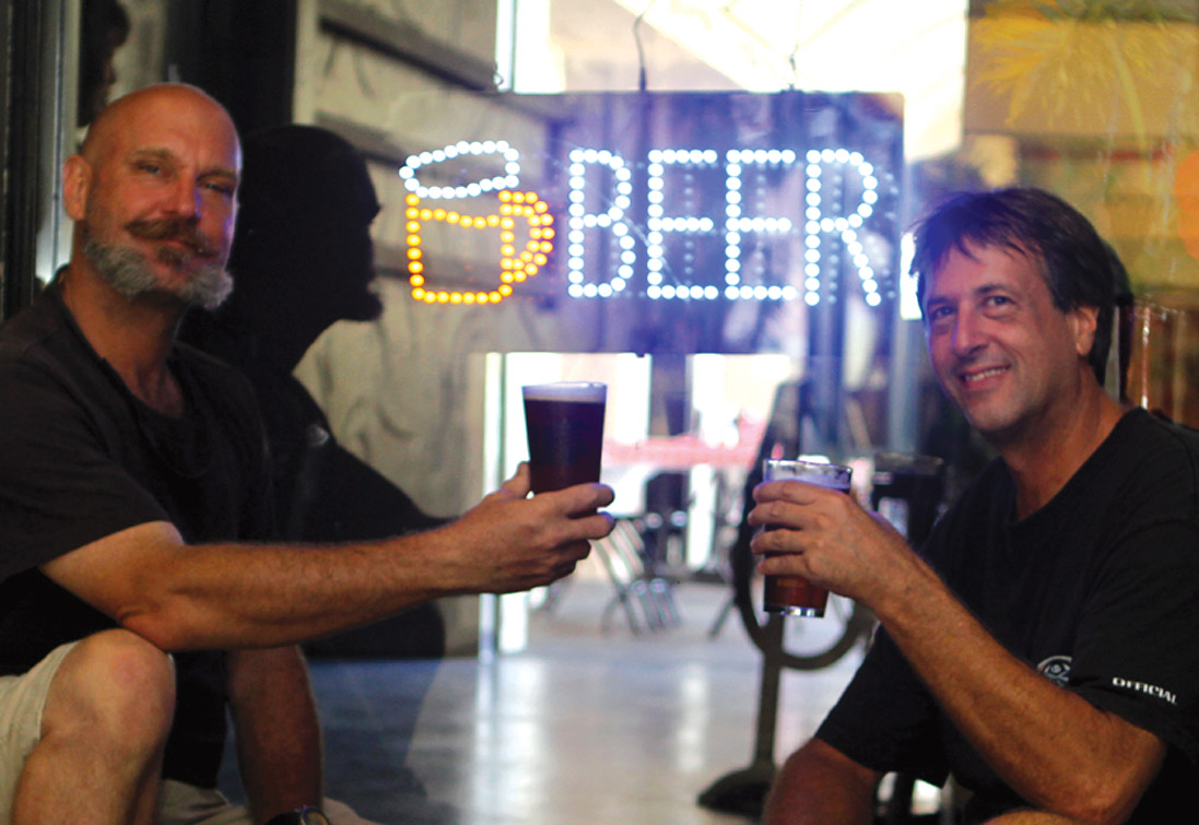 Brewer Greg Yount and owner Frank Wenzl. Photo by Tracy Chan