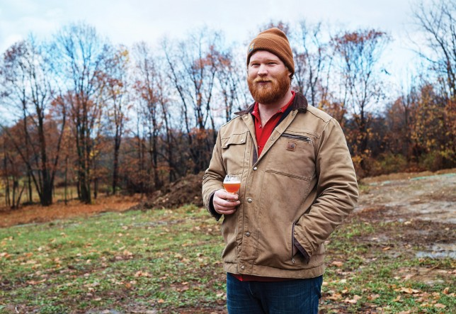 Plan Bee Farm Brewery's Evan Watson.