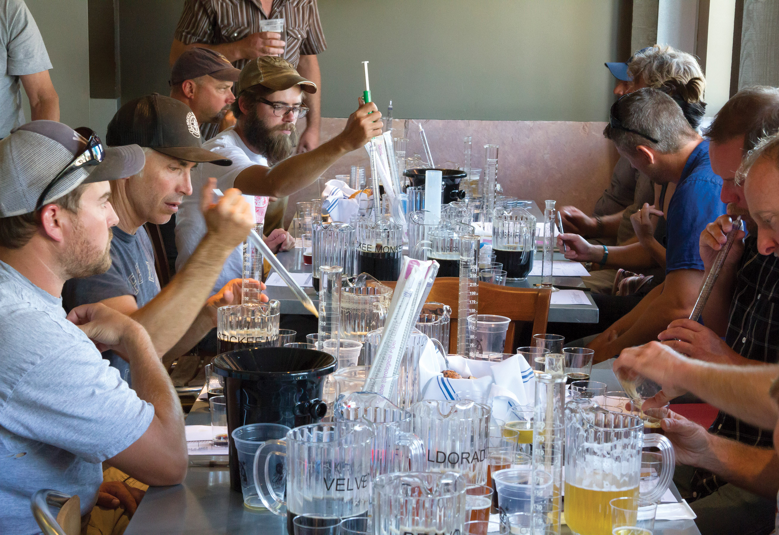 Participants team up to create their entries for the blend competition. | Photovby Brian Hall
