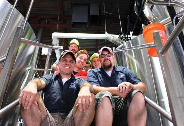 The crew behind Stoop Sitter, a Heavy Seas collaboration for Baltimore Beer Week.