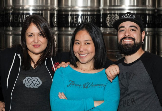 Three Weavers brewmaster Alexandra Nowell, founder Lynn Weaver and assistant brewer Chris Gonzales. | Photo by Bernie Wire