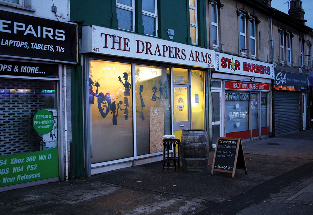 The Draper's Arms, a former fabric shop, is Bristol, England's first micropub.