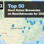 Top 50 Most Rated Breweries on BeerAdvocate for 2020