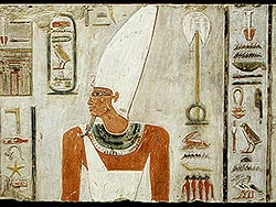 Mentuhotep II - notice the mash paddle