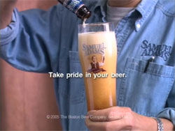 Take pride in your beer (Samuel Adams)