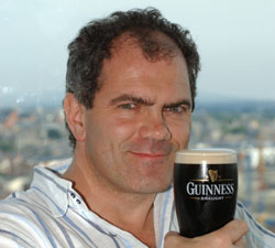 Guinness Brewmaster, Fergal Murry, enjoy a pint of the black suff.