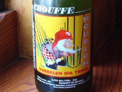 Houblon Chouffe Dobbelen IPA Tripel bottle - thanks to B. United