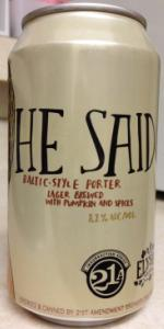 He Said (Baltic Porter)