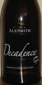 Alesmith Decadence 2013 German Style Doppelbock
