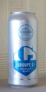 Groupe G Belgian RyePA