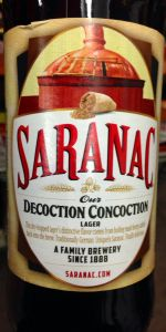 Saranac Decoction Concoction Lager