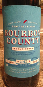 Proprietor's Bourbon County Brand Stout (2013)