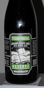 Territorial Reserve Bourbon Barrel Aged Rye Wine Ale