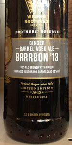 Ginger Barrel-Aged Brrrbon '13