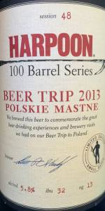 Harpoon 100 Barrel Series Session #48 - Beer Trip 2013 Polskie Mastne