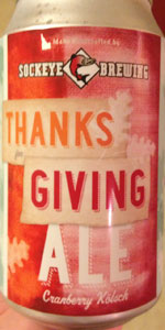 Thanks For Giving Ale (Cranberry Kolsch)