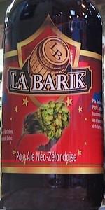 La Barik Pale Ale Néo-Zélandaise