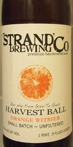 Harvest Ball Orange Witbier