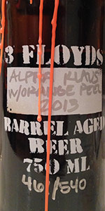 Barrel Aged Alpha Klaus With Orange Peel