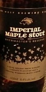 Imperial Maple Stout