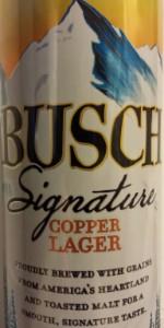 Busch Signature Copper Lager