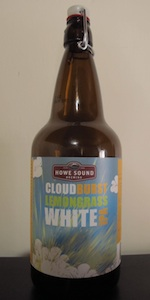 Cloudburst Lemongrass White IPA