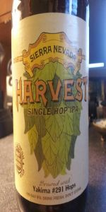 Sierra Nevada Harvest Single Hop IPA - 291 Varietal
