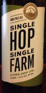Single Hop Single Farm Citra Hop IPA