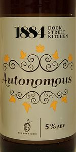 Autonomous (Collaboration With 1884 Dock Street Kitchen)