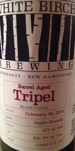 White Birch Apple Brandy Barrel Aged Tripel
