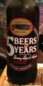 5 Beers For 5 Years - Brewery Reps & Admin - Imperial Oatmeal Cream Porter