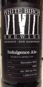 White Birch Indulgence Ale (2014)