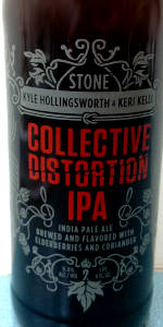 Stone / Keri Kelli / Kyle Hollingsworth  Collective Distortion IPA