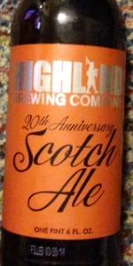 20th Anniversary Scotch Ale