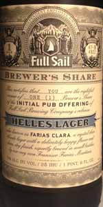 Faria's Clara Helles Lager (Brewer's Share)