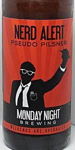 Nerd Alert Pseudo Pilsner