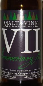 Malt & Vine VII - Anniversary Ale