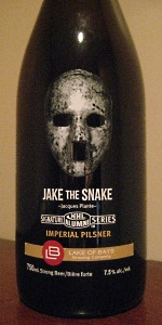 Jake The Snake: Jacques Plante Imperial Pilsner