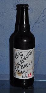 Big Experimental Brew Batch No. 1