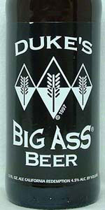 Dukes Big Ass Beer (Hefeweizen)