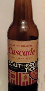 Ration Type:  Breakfast - Cascade Single Varietal Ale