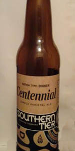 Ration Type:  Dinner - Centennial Single Varietal Ale