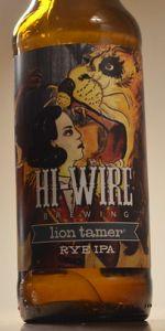 Lion Tamer Rye IPA