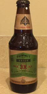 Union Series:  3X Mild Ale