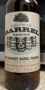 Rye Whiskey Barrel Pumpkin