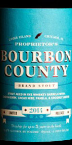 Proprietor's Bourbon County Brand Stout (2014)