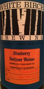 White Birch Blueberry Berliner Weisse